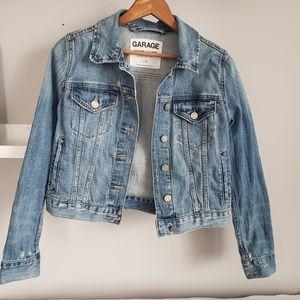 Garage Denim Jacket Classic Fit Jean Distressed